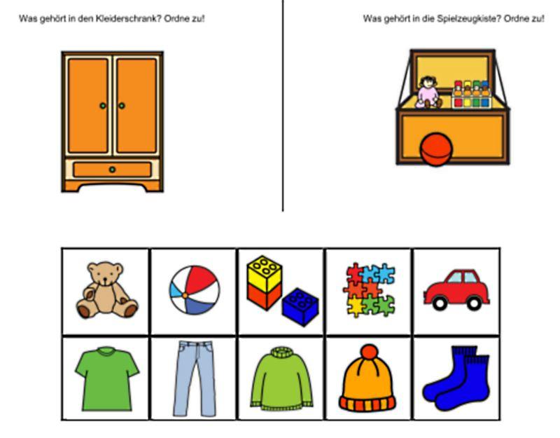 Aufgabenmappe - Kleiderschrank oder Spielzeugkiste?