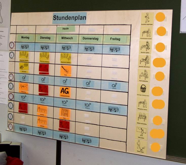 80 Symbolkarten für den Stundenplan