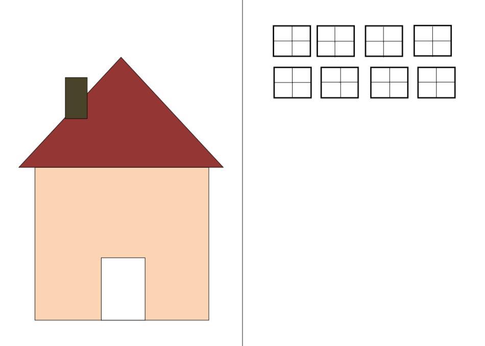Teacch Arbeitsmappe - Aufgabe Haus-Fenster Zuordnung