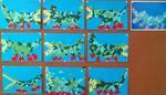Krokodile aus Papierdreiecken