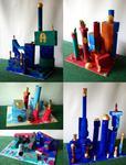 Architekturmodell a la Hundertwasser