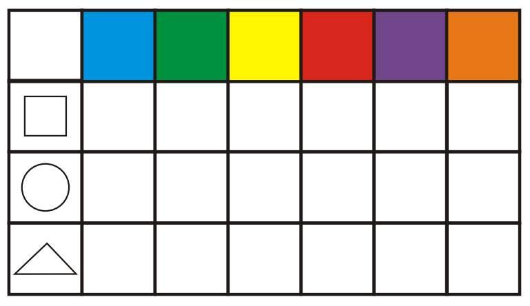Farben und Formen zuordnen