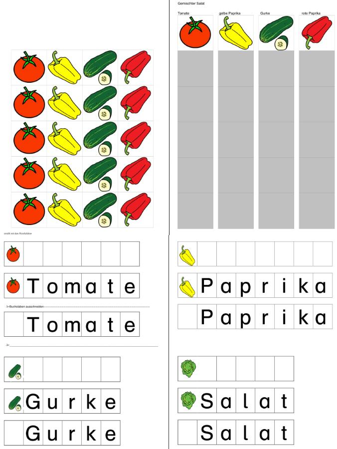 Bildrezept - Paprika - Gurke - Tomaten - Salat