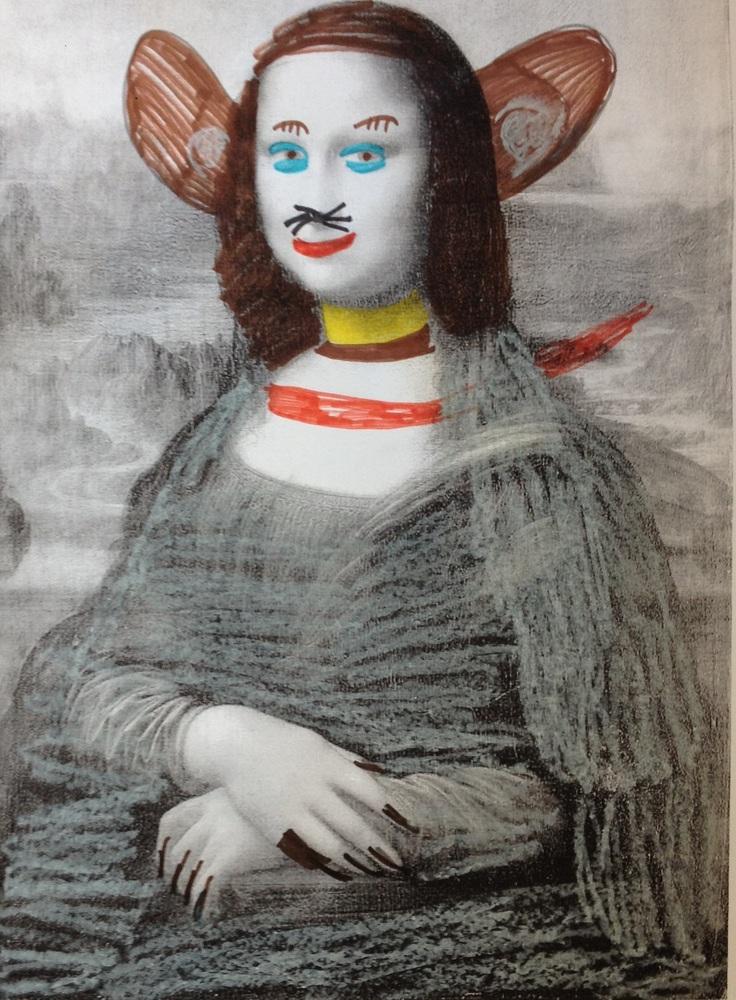 Mona Lisa als Faschingsbild