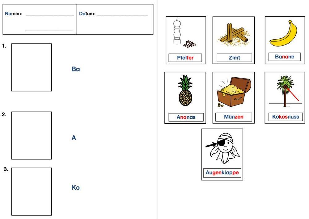 Bildkarten - Piratenschätze