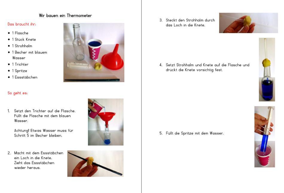 Bildanleitung - Thermometer selbst bauen