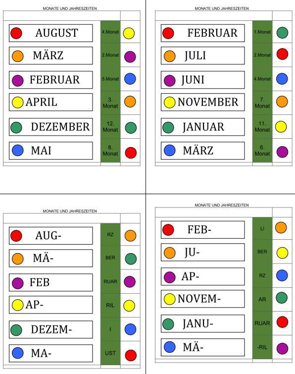 Logico - Jahreszeiten und Monate