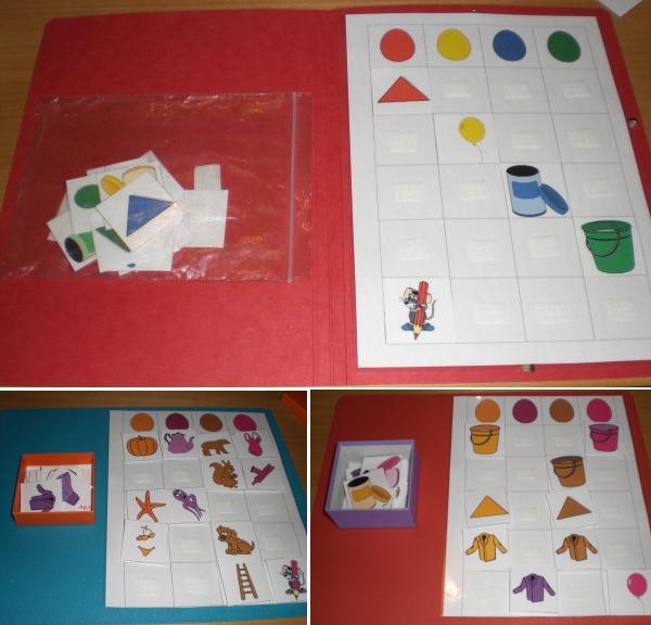 Teacch Tablettaufgaben und Aufgabenmappe