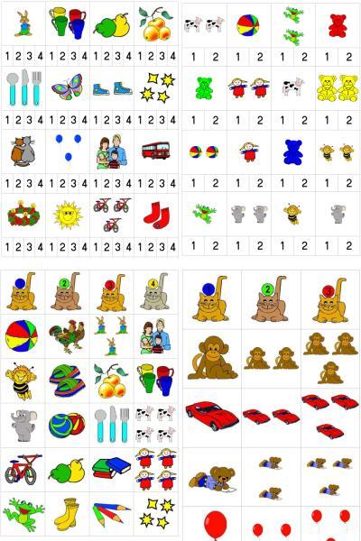 Menge-Zahl-Zuordnung im ZR bis 4