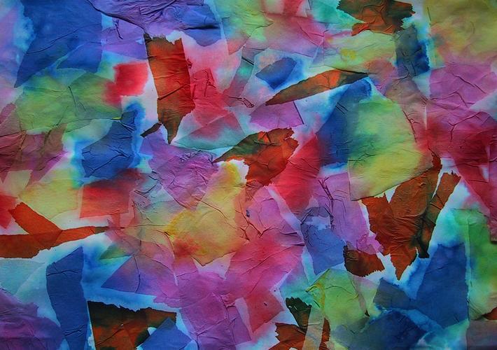 Bild aus Seidenpapier