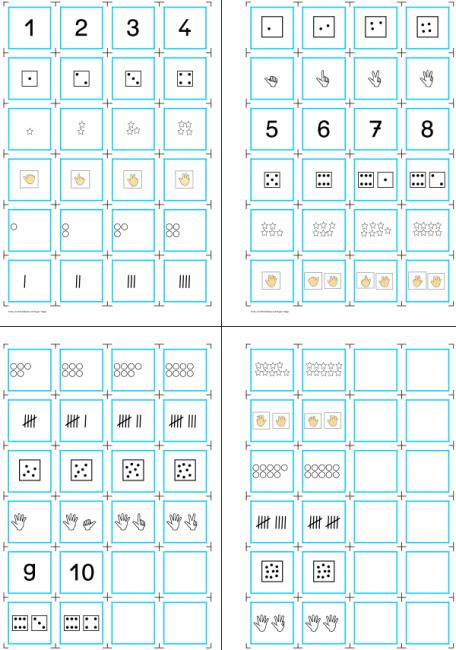 Aufgabenmappe - Zahlen und Mengen zuordnen