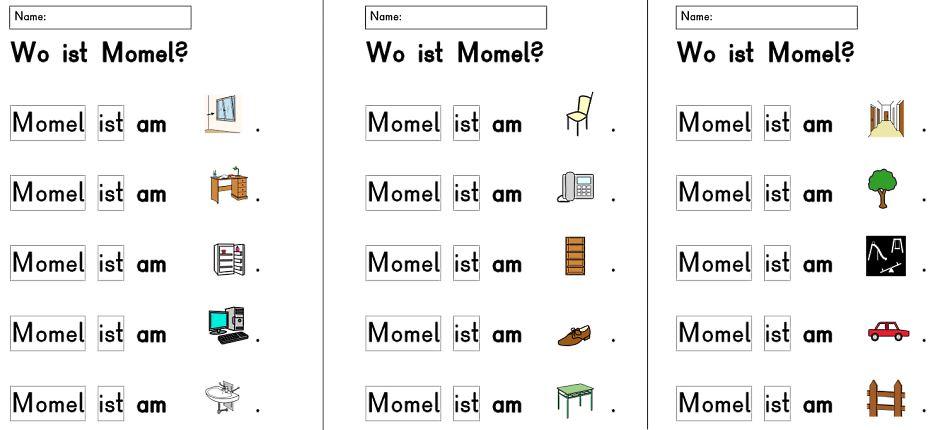 Wo ist Momel? Synthese der Laute a und M zum Wort