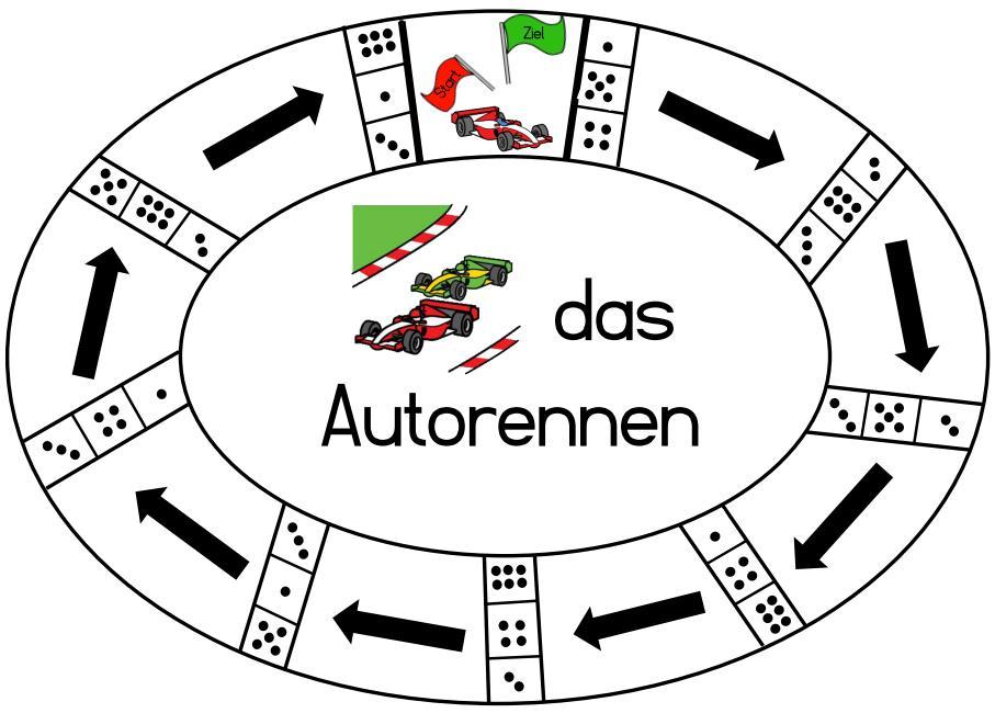 Würfelspiel - Autorennen