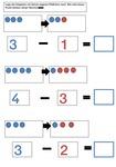 Subtraktion - Einführung von Wendeplättchen