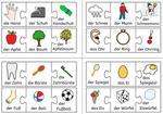 Puzzle - Bild- und Wortkarten für zusammengesetzte Nomen