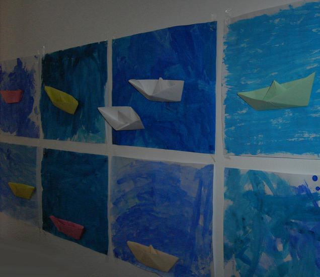 Papier falten - Boote (Thema Moldau)