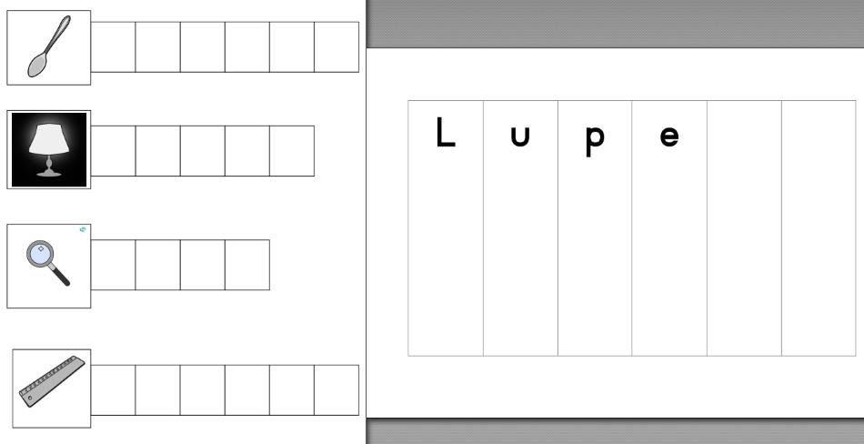 Wörterfächer L-Wörter