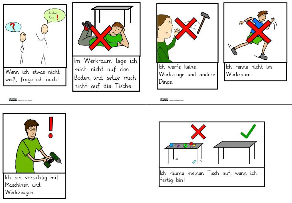 Regeln für den Technikunterricht
