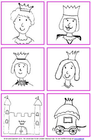 6 königliche Bilder - freie Handzeichnungen