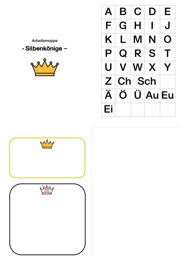 Aufgabenmappe - Silbenkönige