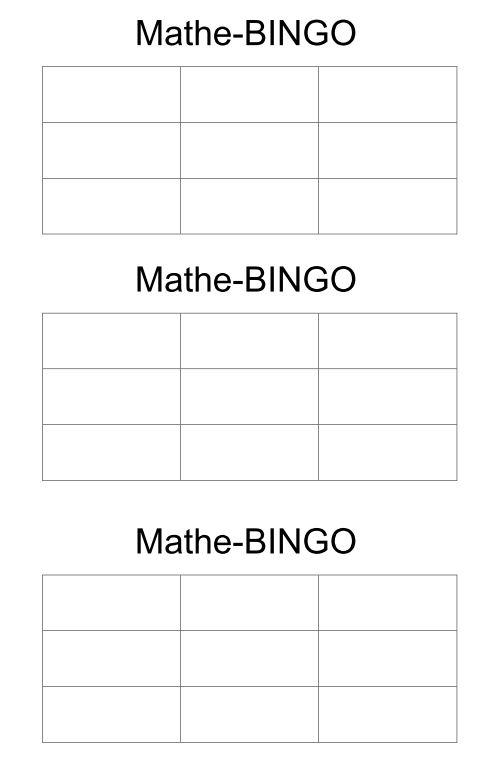 Mathe-Bingo