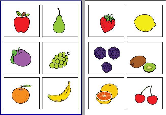 Zwei Obstspiele