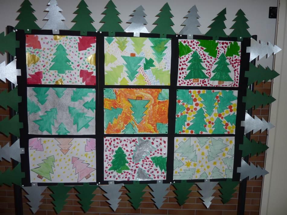 Viele Weihnachtsbäume