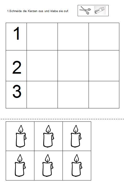 1, 2, 3 Kerzen