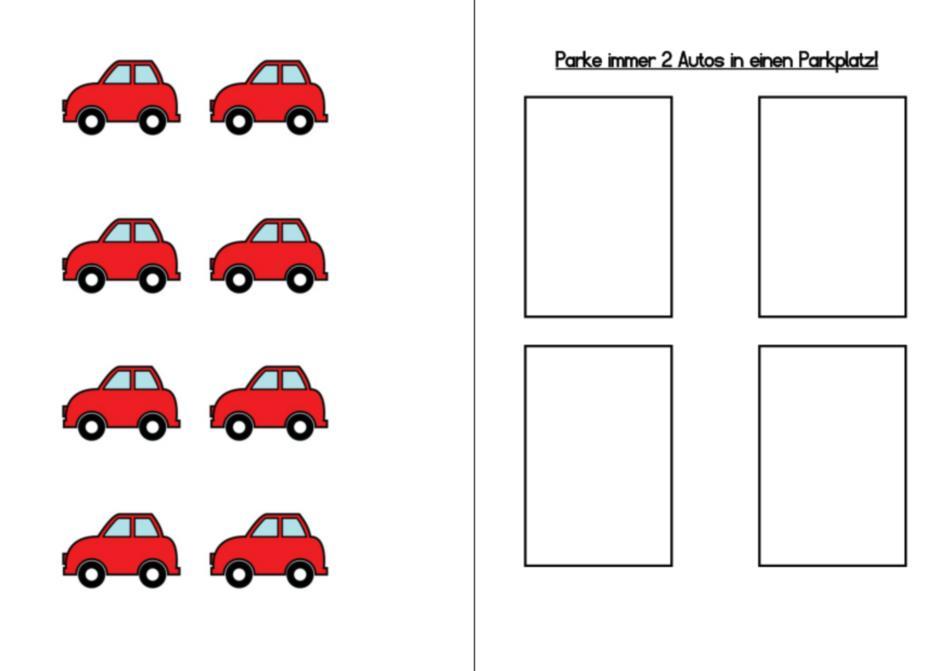 Aufgapenmappen - Farben, 1 zu 1 Zuordnung, immer 2