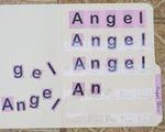 Teacch - Buchstaben des Namens
