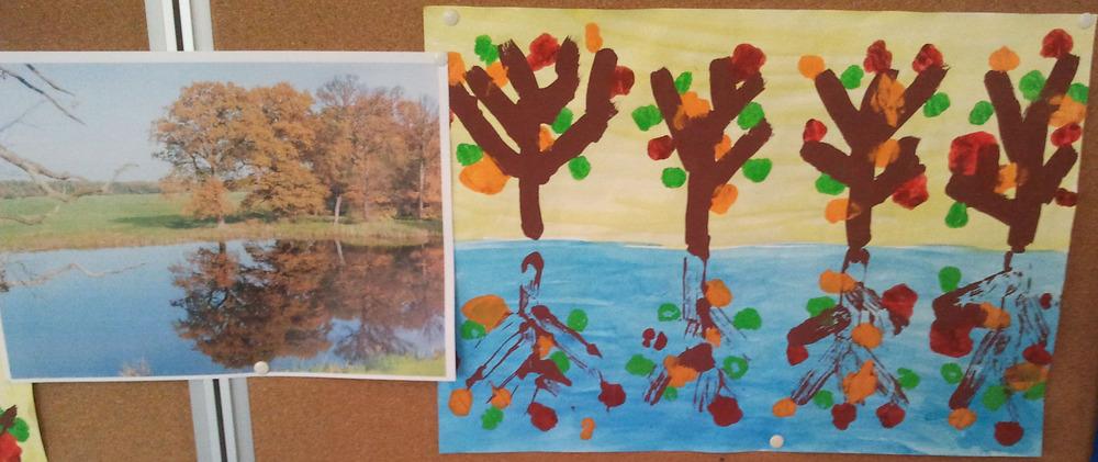 Herbstbäume Spiegelung