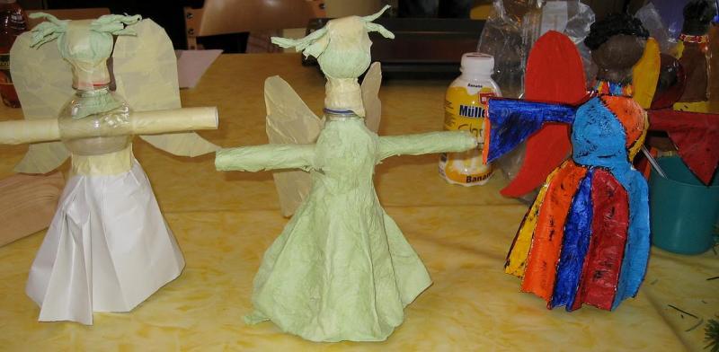 Engel aus Colaflasche