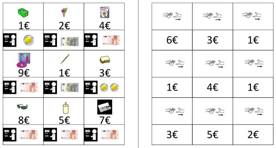 Spielkarten Geld - Herausgeben