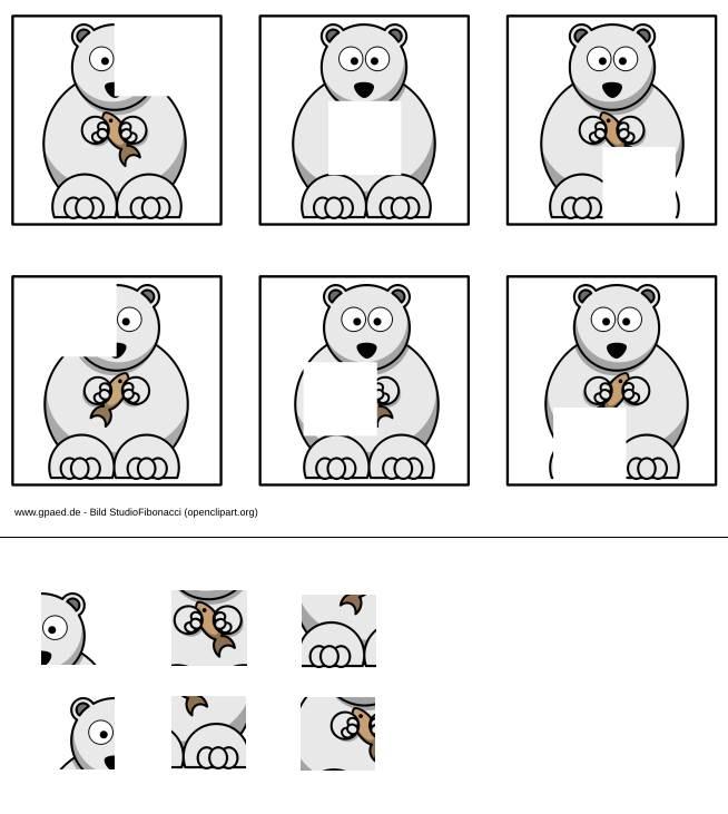 Aufgabenmappe - Eisbär Puzzle