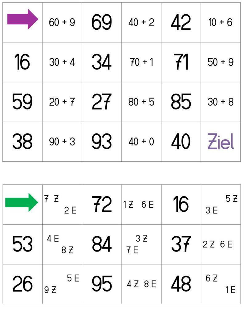 Domino - Zehner und Einer - Zahl