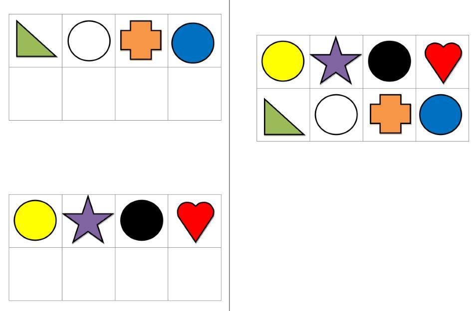 Aufgabenmappe - Farben und Formen