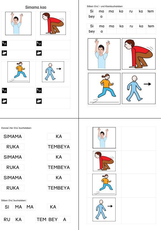 Simama kaa - Bewegungslied - Silben lesen