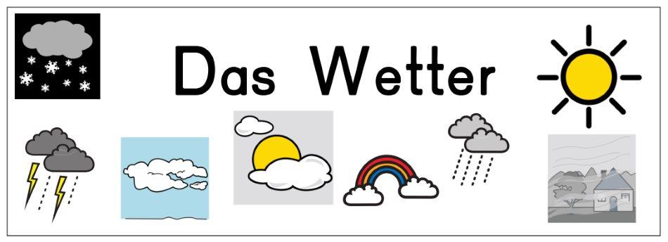 Tafelschild Wetter