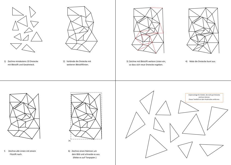 Dreiecke verbinden