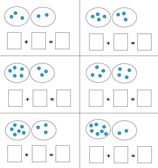 Aufgaben legen im Zahlenraum bis 10