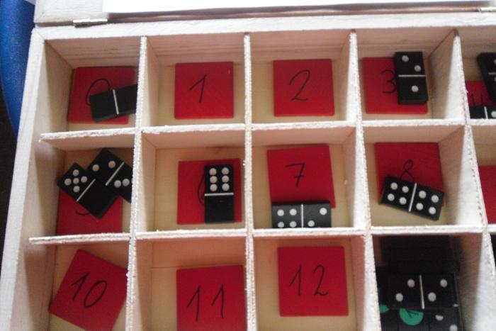 Plusaufgaben mit Dominosteinen