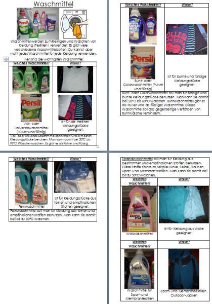 Verschiedene Waschmittel