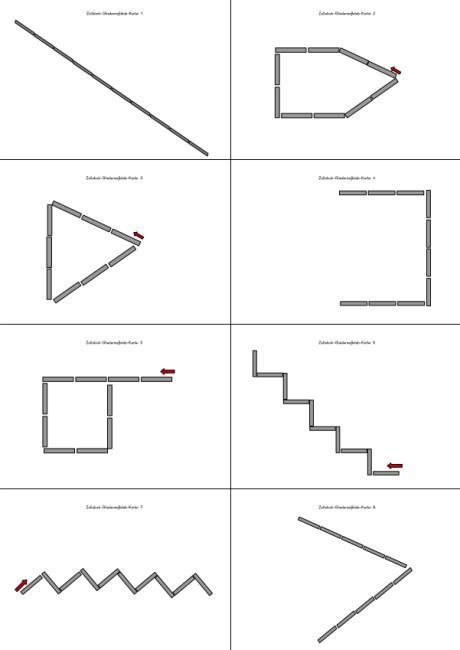 Kartei - Figuren mit dem Zollstock nachlegen
