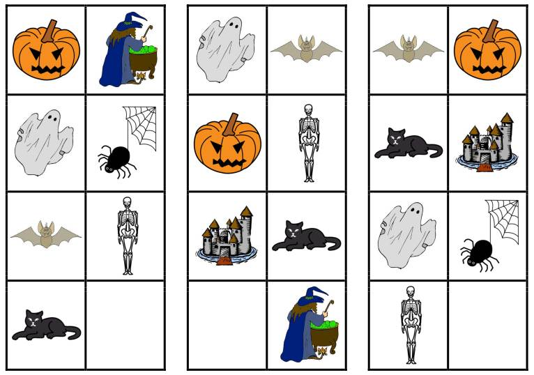 Was fehlt denn da? Halloween