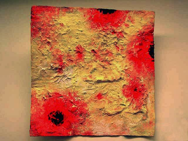 Abstraktes Bild auf Maschendraht