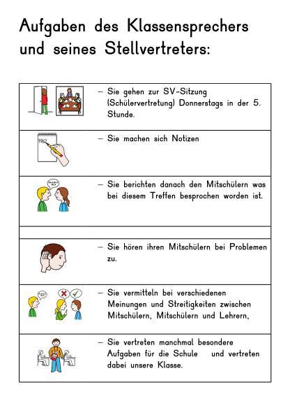 Aufgaben eines Klassensprechers