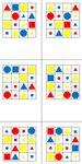 Bingokarten - Farbe - Form - Größe