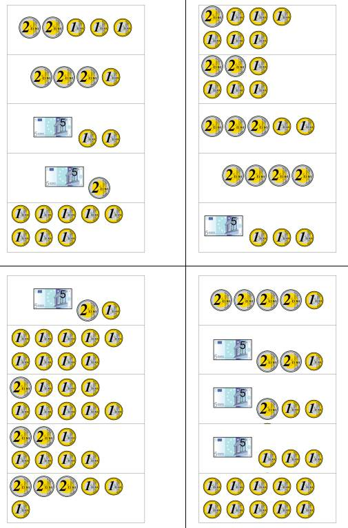 Geldbeträge zählen