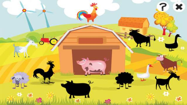 Einfaches Bauernhof-Lernspiel