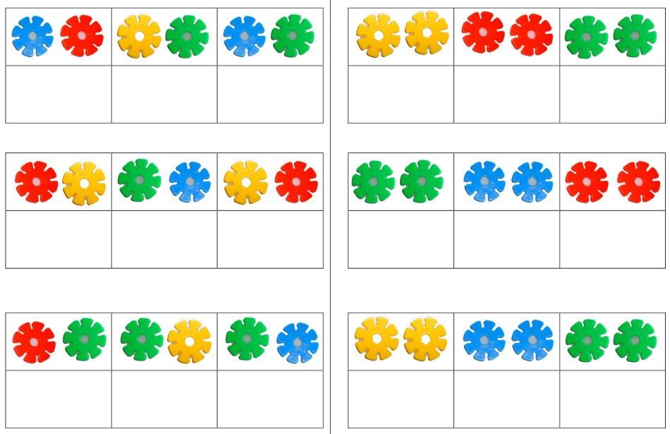 Aufgabenmappe - Stecksonnen - Farbzuordnung